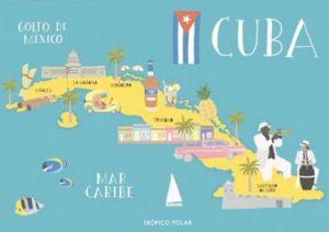 mapa ilustrado cuba tropicopolar