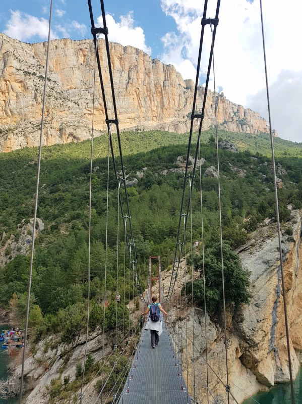 Ruta de las pasarelas de Montalcó: el puente colgante