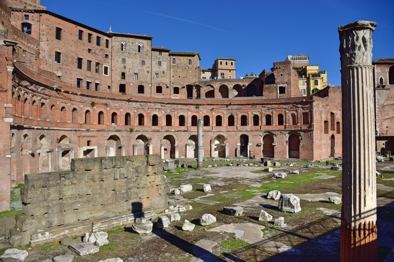preparativos para viajar a Roma: mercado de Trajano