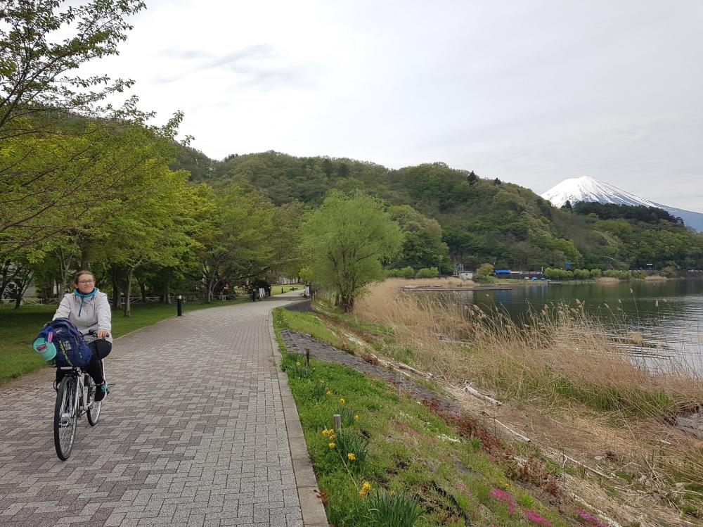 Qué hacer en Kawaguchiko en un día: alquilar una bicicleta