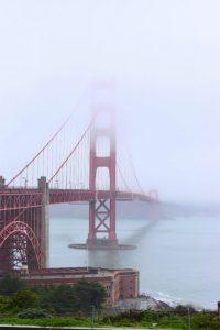 Los mejores miradores de San Francisco: Golden gate con niebla
