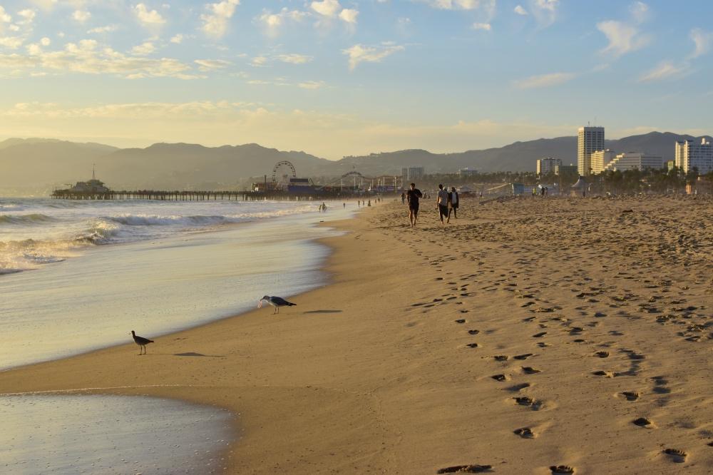 Qué hacer en Los Ángeles en 4 días: atardecer en la playa