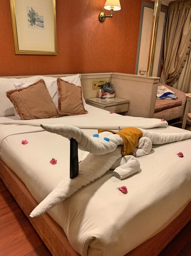 nuestra habitación en el crucero