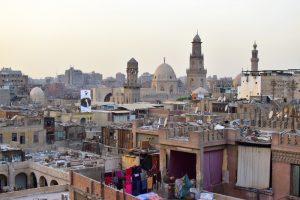 Los tejados de El Cairo desde la terraza del Hotel Hussein
