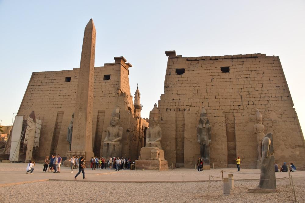 Templo de Luxor al atardecer