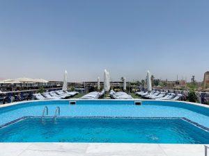 Contratar un crucero por el Nilo en Egipto: piscina y jacuzzi