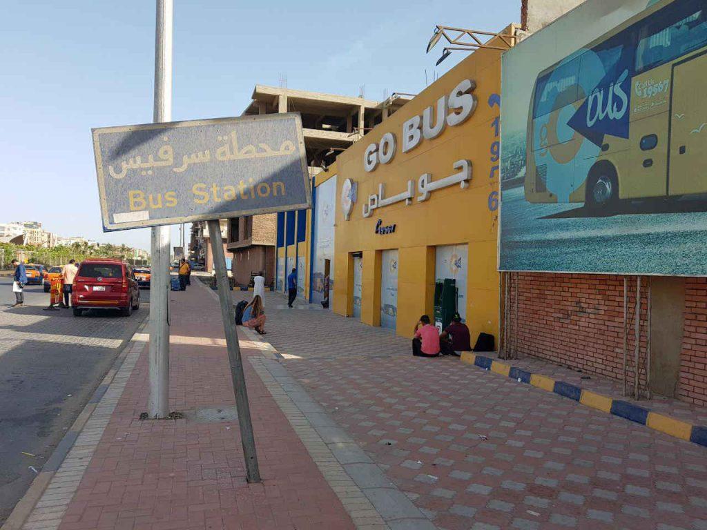 Cómo moverse por Egipto: hurghada estación go bus