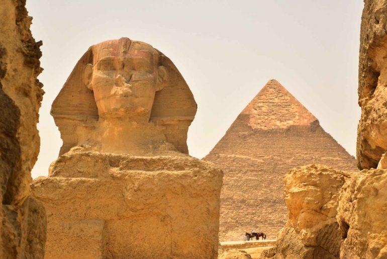 Esfinge pirámide Keops Giza