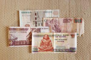 billetes egipcios
