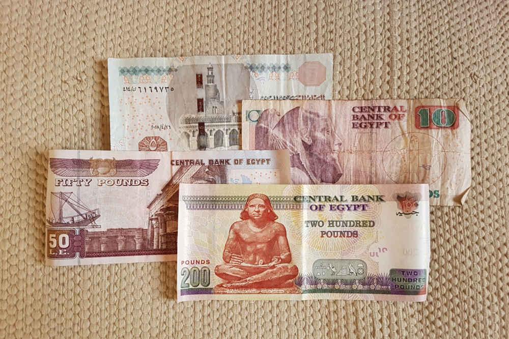 Presupuesto para viajar a Egipto: billetes egipcios