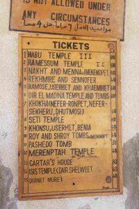 precios tumbas nobles reinas Luxor