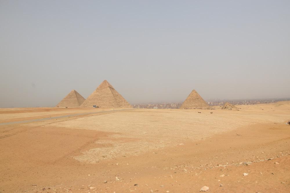 Las tres pirámides de Giza