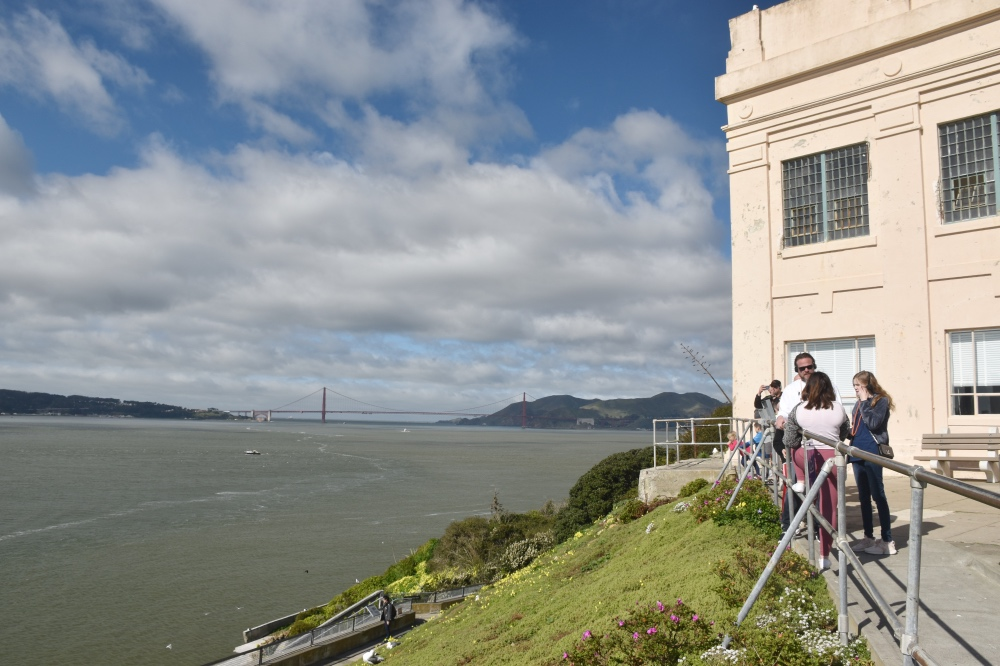 Las vistas del Golden Gate desde Alcatraz