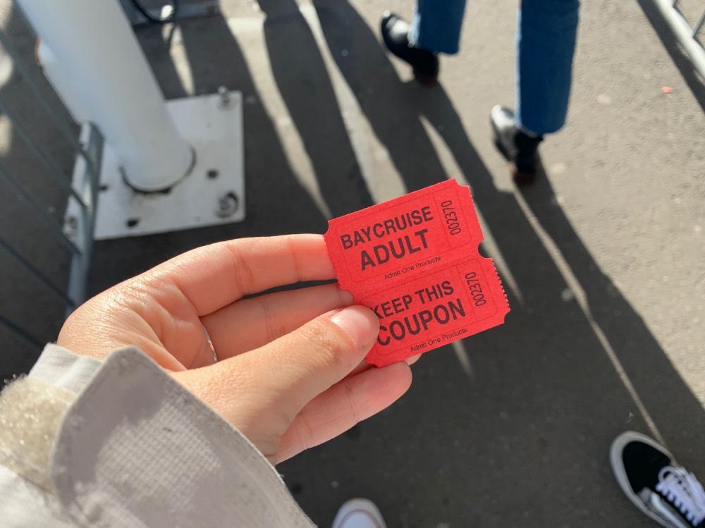 Los tickets que te dan al validar tu entrada para visitar Alcatraz en San Francisco