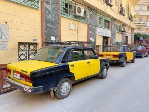 taxis en Alejandría