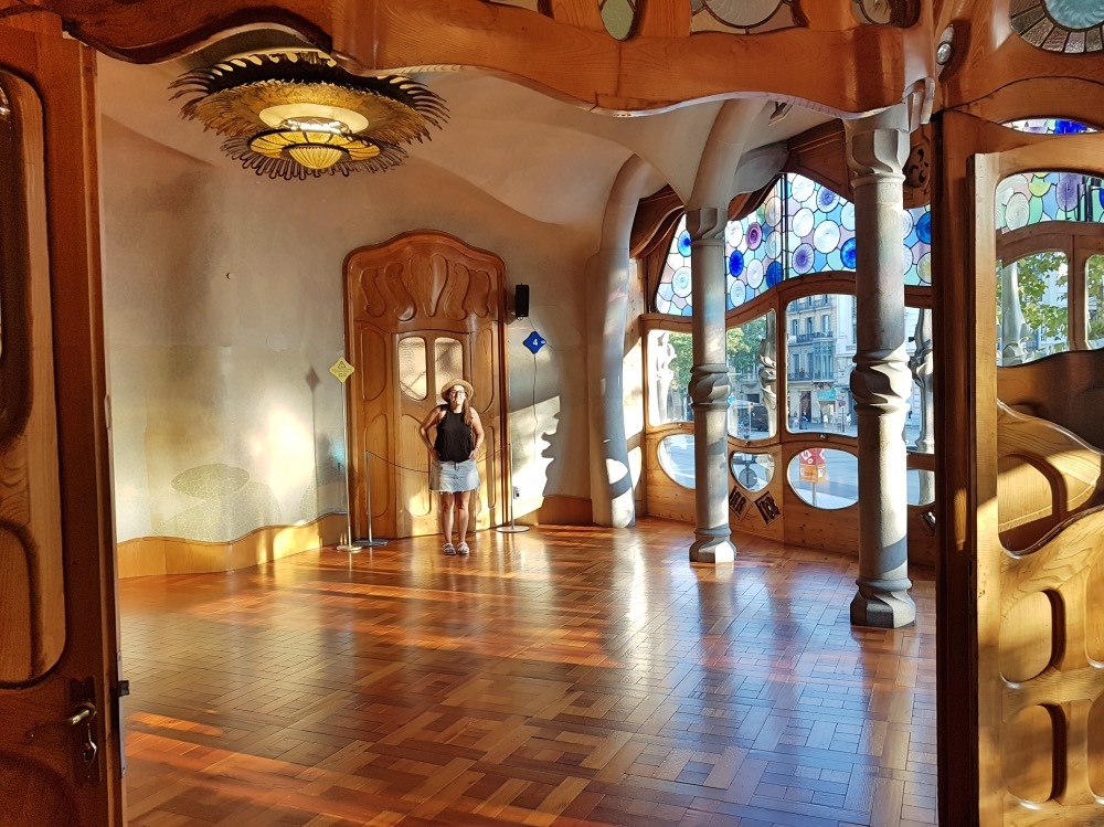 El salón principal de la Casa Batlló