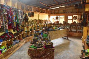 La tienda de la cooperativa de mujeres de nuestro alojamiento
