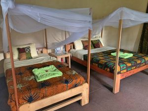 Nuestra habitación en el lodge.