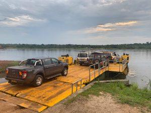 El transbordador para cruzar de un lado al otro del río Nilo.