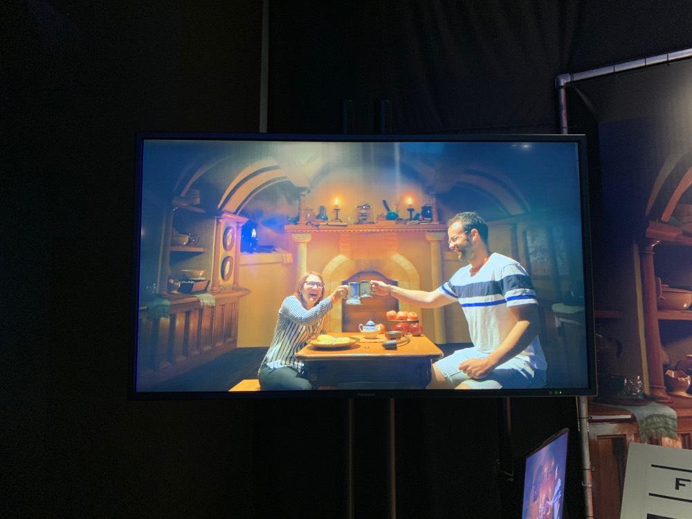 Probando los efectos especiales de El Hobbit en el tour de WB Studios