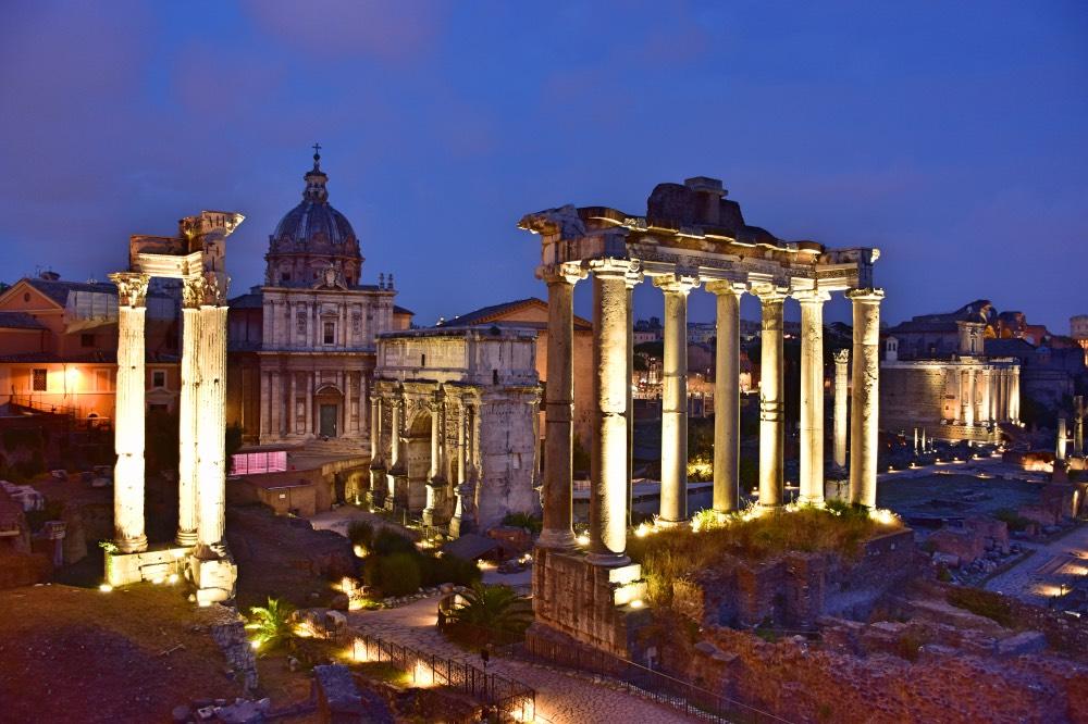 Los mejores miradores de Roma: El foro desde la parte trasera de la Plaza del Campidoglio