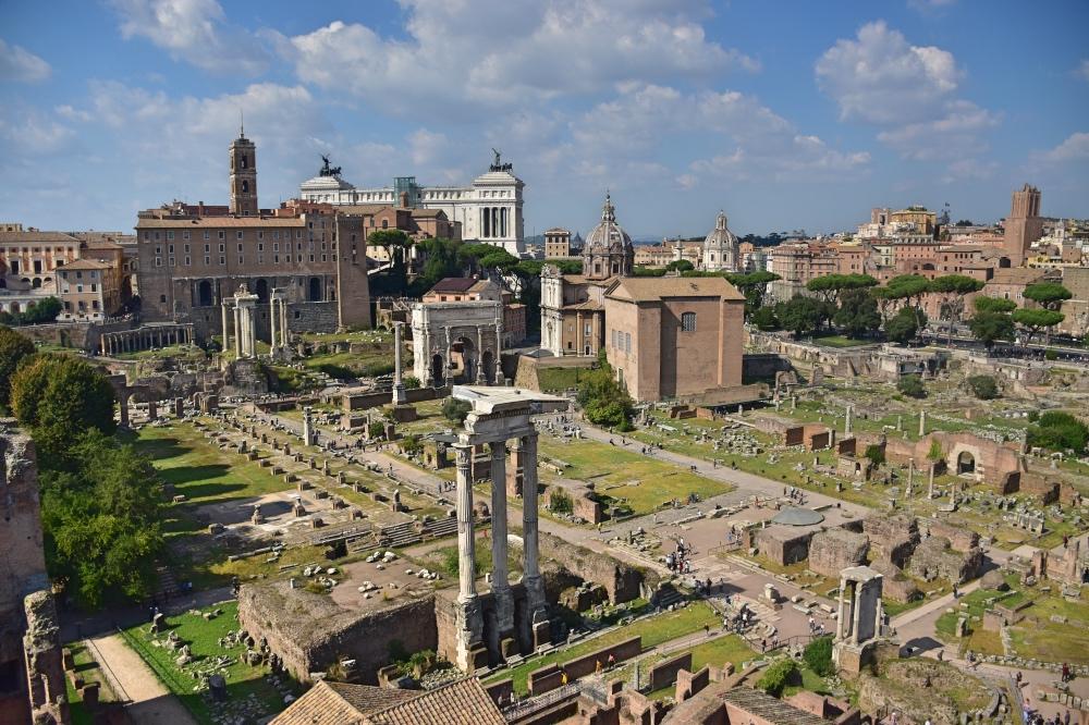 El Foro Romano desde el Monte Palatino