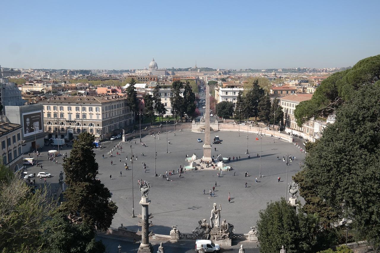 La Piazza del Popolo desde la Terraza de Pincio