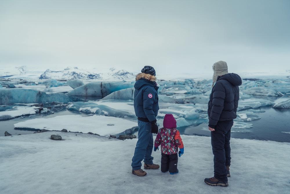 La familia Algo que recordar en Islandia