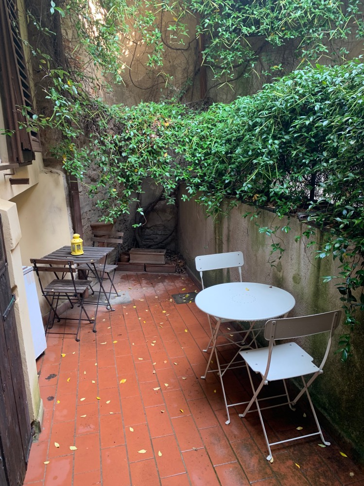 El patio del alojamiento