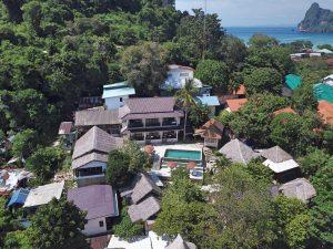 El hotel Chunut a vista de dron