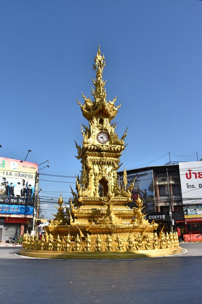 La torre del reloj en Chiang Rai