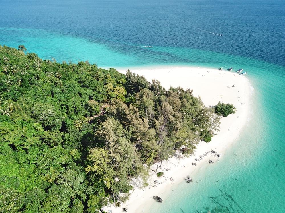 Bamboo Island a vista de dron