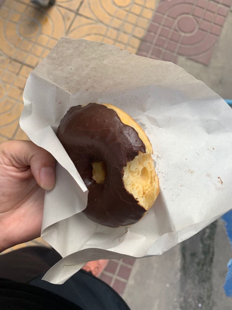 Donut con chocolate