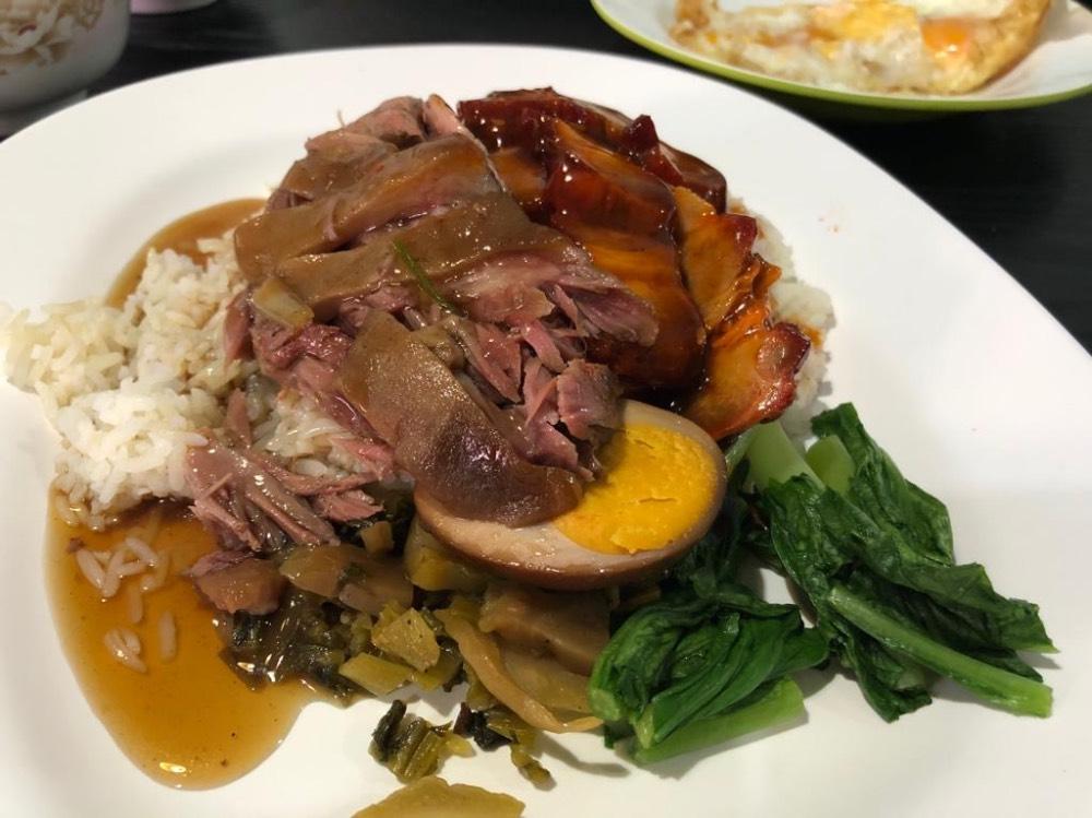 Cerdo con arroz, un típico plato chino