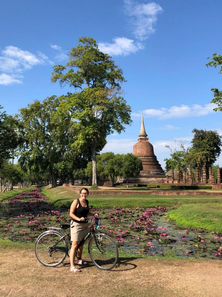 Recorriendo Sukhothai en bicicleta