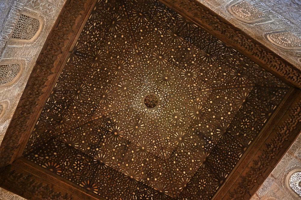 Techo de la sala del trono. Las formas buscan imitar a las estrellas en el cielo.