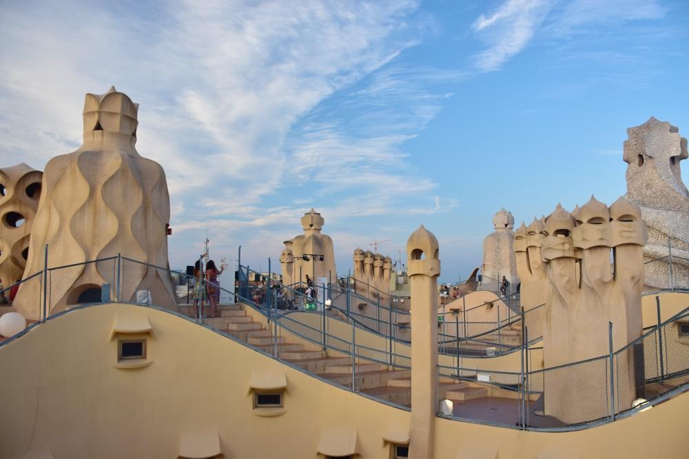 Los mejores miradores de Barcelona: La terraza de la Pedrera