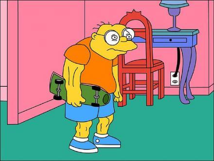 Hans Topo disfrazado de Bart Simpson