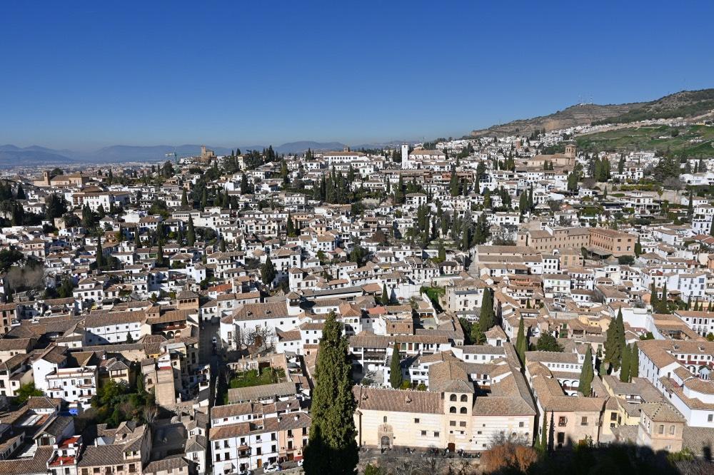 Mejores miradores de Granada: El barrio del Albayzín desde la Torre de la Vela
