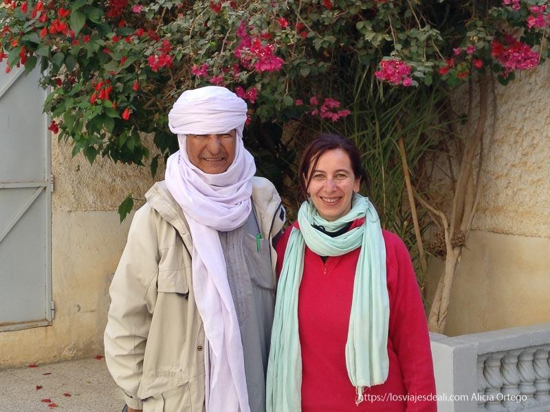 Ali con el Cheik Ahmed en Argelia