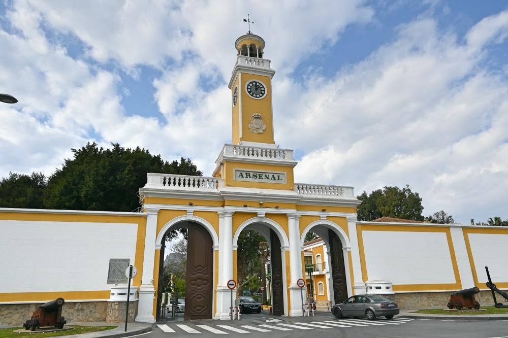 El reloj del Arsenal de Cartagena