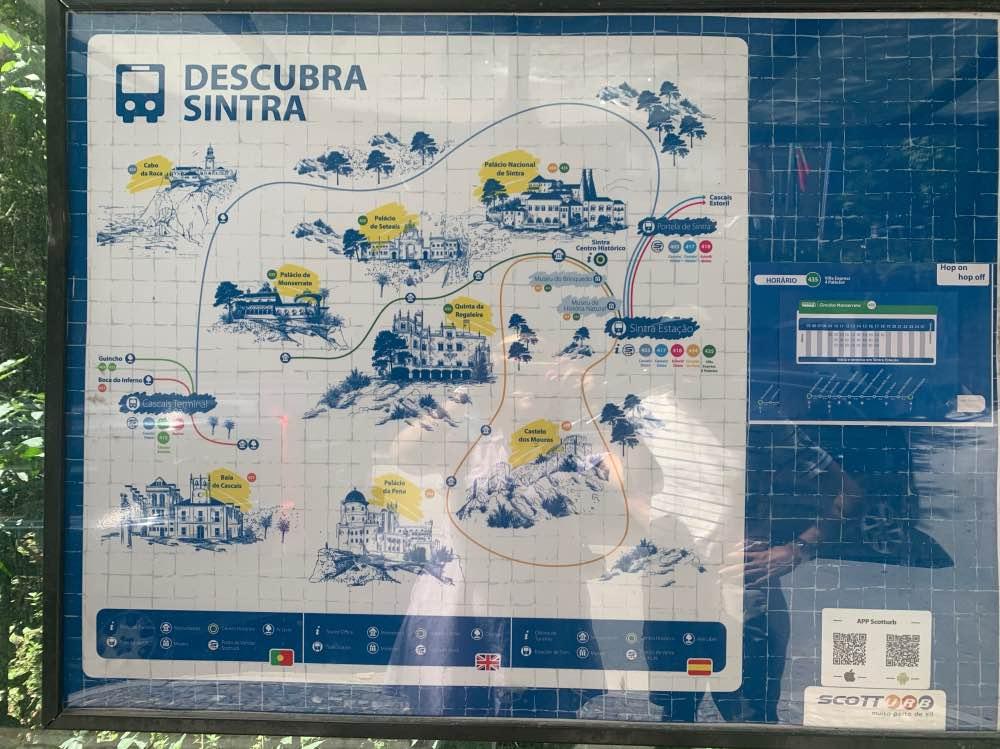 El plano de autobuses