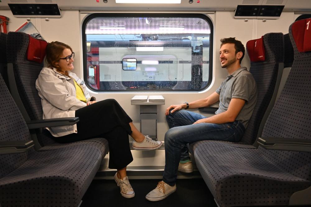 Nuestro viaje en tren a Suiza