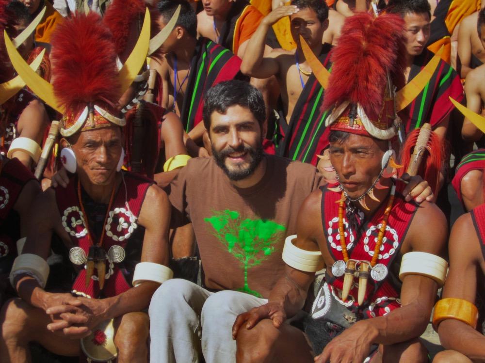 En el festival tribal Hornbill.