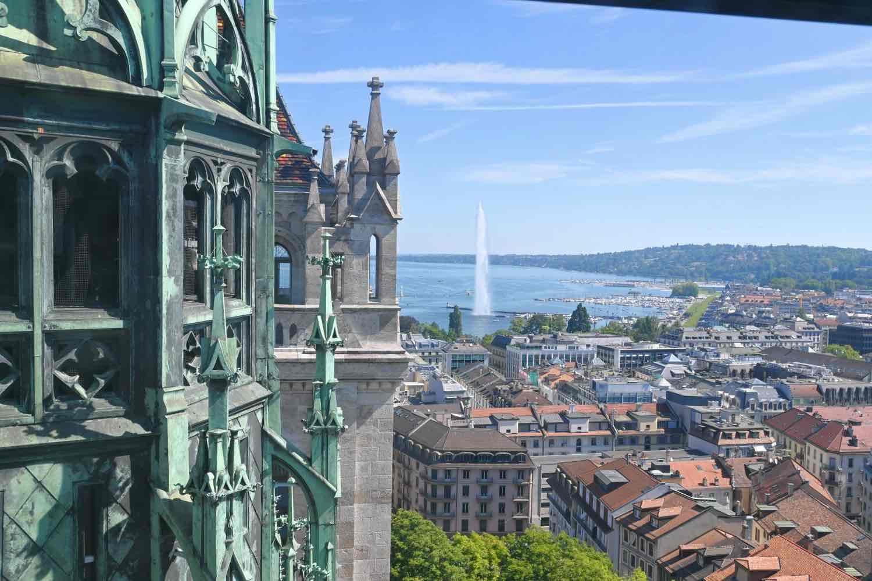 Qué hacer en Ginebra:La vista desde una de las torres de la Catedral de San Pedro