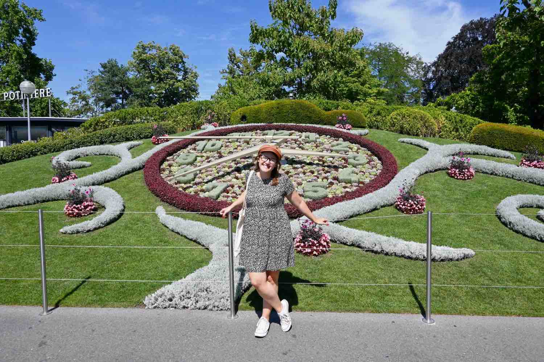 Qué hacer en Ginebra: El mítico reloj de flores del Jardín Inglés