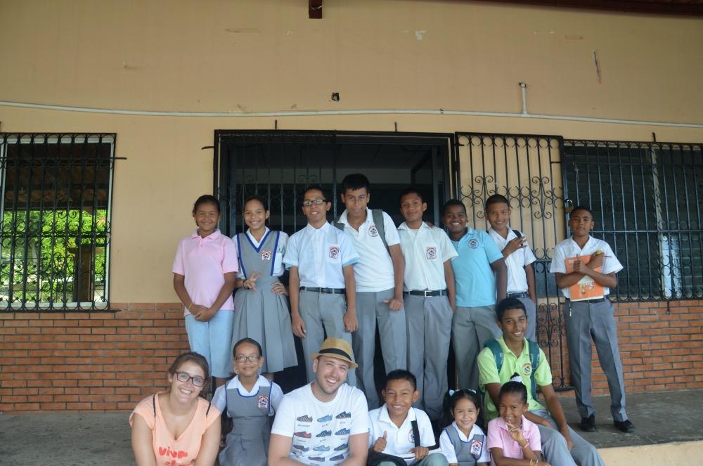 En un colegio de Panamá